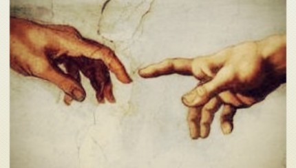 detail from Michelangelo, The Creation of Adam